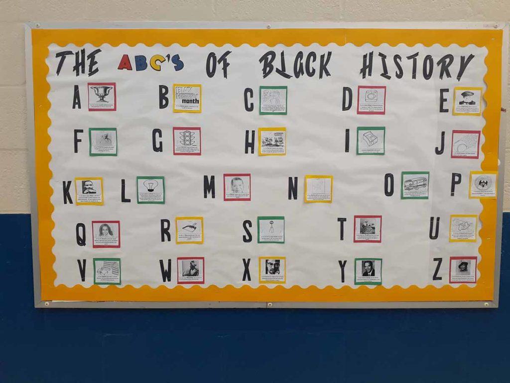 Eboni Pearson - ABCs of Black History Bulletin Board