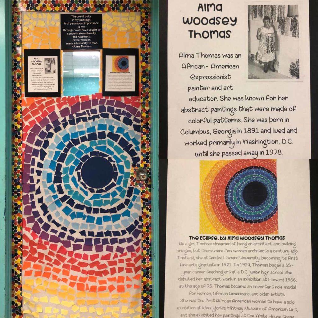 Rachel Petrucelli - Alma Thomas classroom door for Black History Month