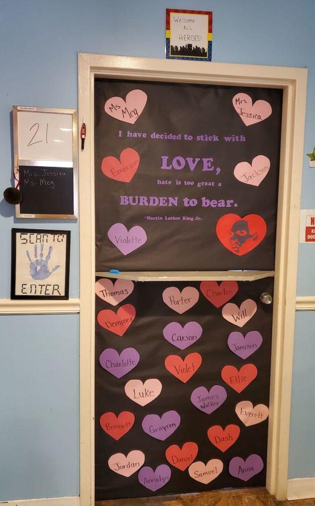 Jessica Manus Black History Classroom Door