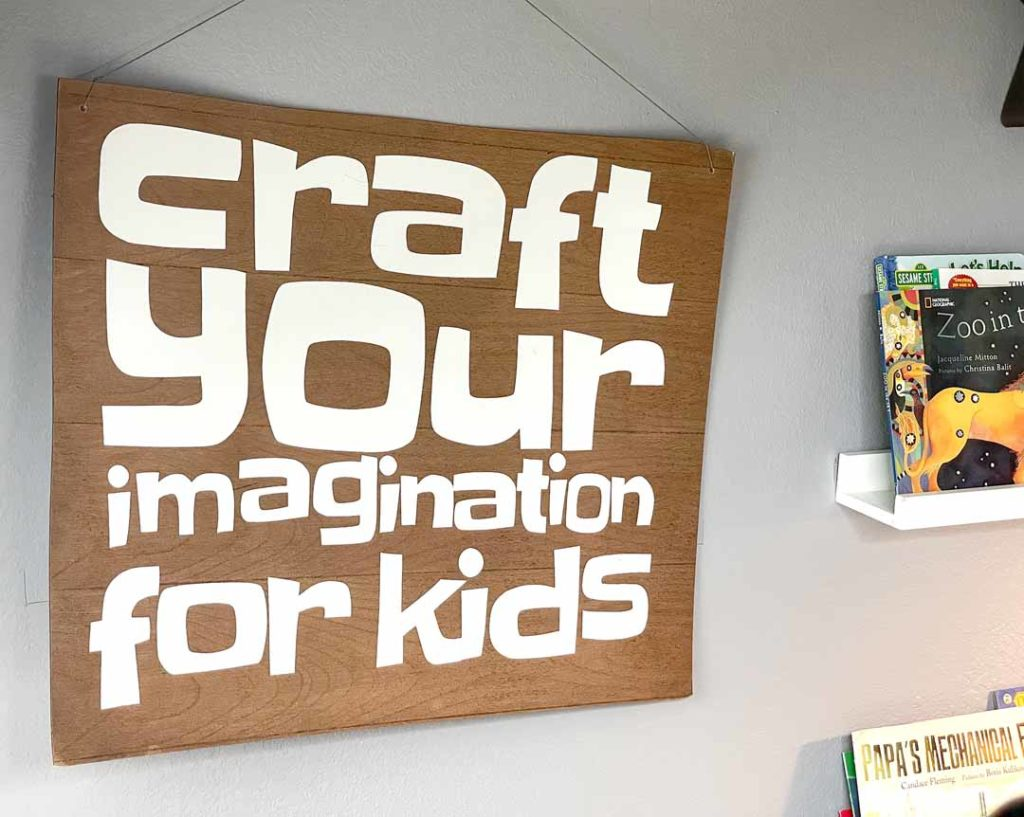 Joey Johnson - Craft Your Imagination for Kids sign