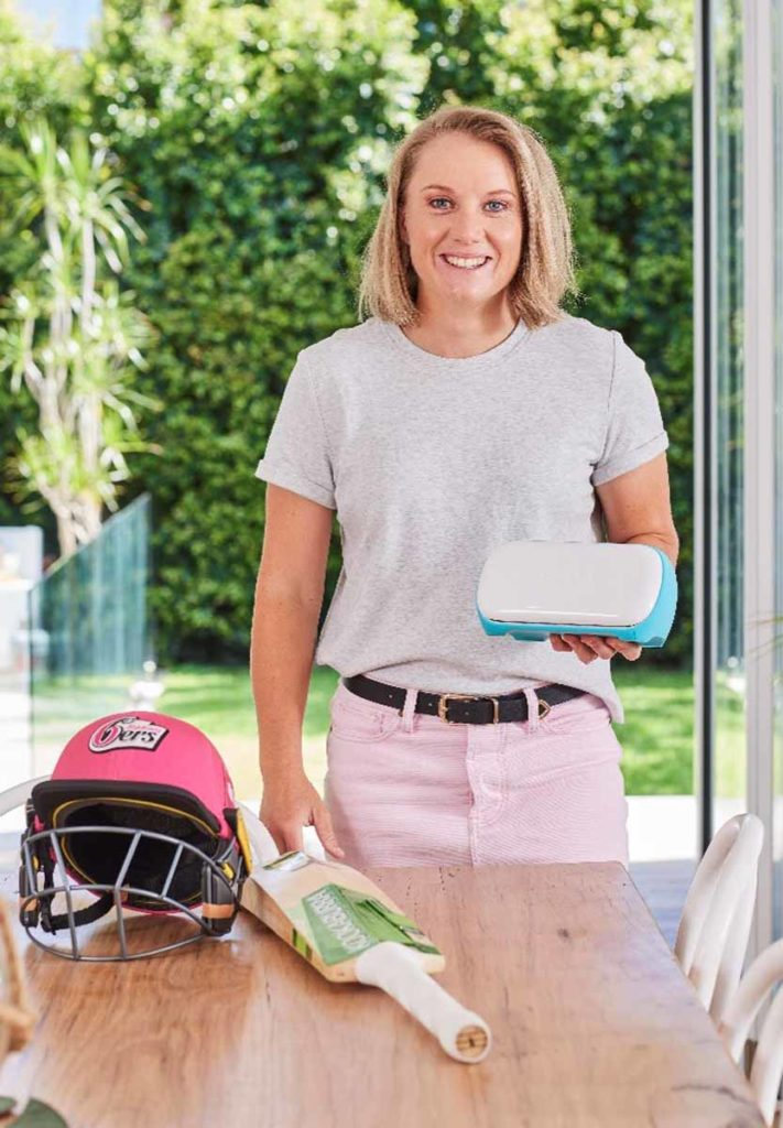 Alyssa Healy using Cricut Joy