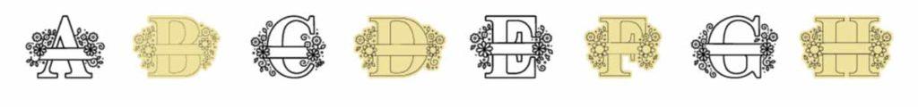 Cricut Access image set: Daisy Split Monograms