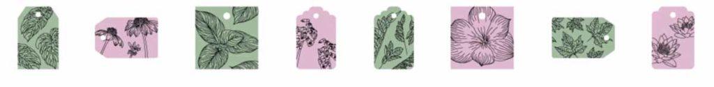 Cricut Access image set: Floral Gift Tags