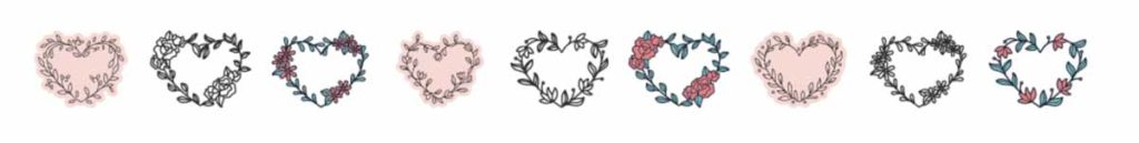 Cricut Access image set: Heart Flower Wreaths