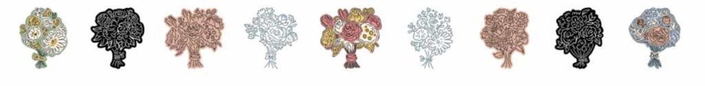 Cricut Access image set: Wedding Bouquets