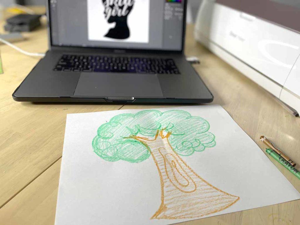 Joey Johnson tree doodle