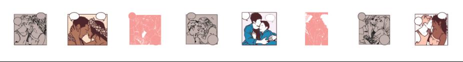 Valentine Cricut Access Images - Comic Style Couples with Speech Bubbles