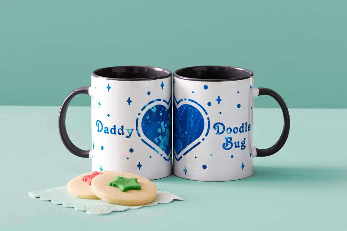 Father's Day Cricut DIY mugs for gifts