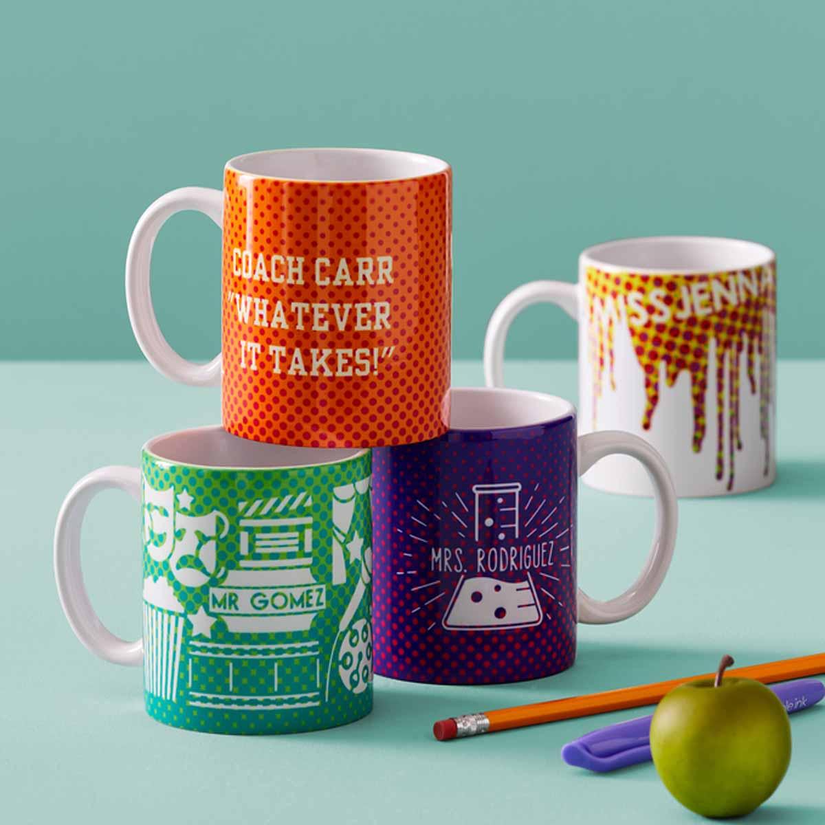 DIY mugs for teachers with Cricut