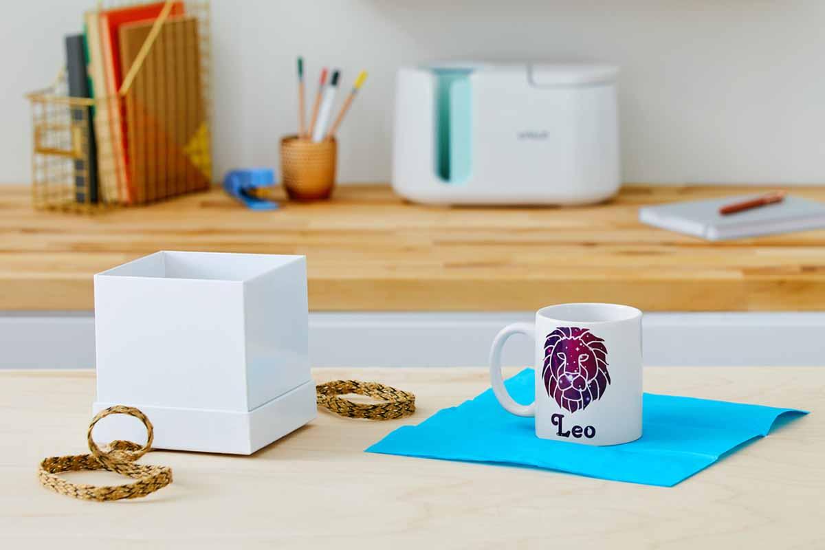 DIY astrological sign mug with Cricut