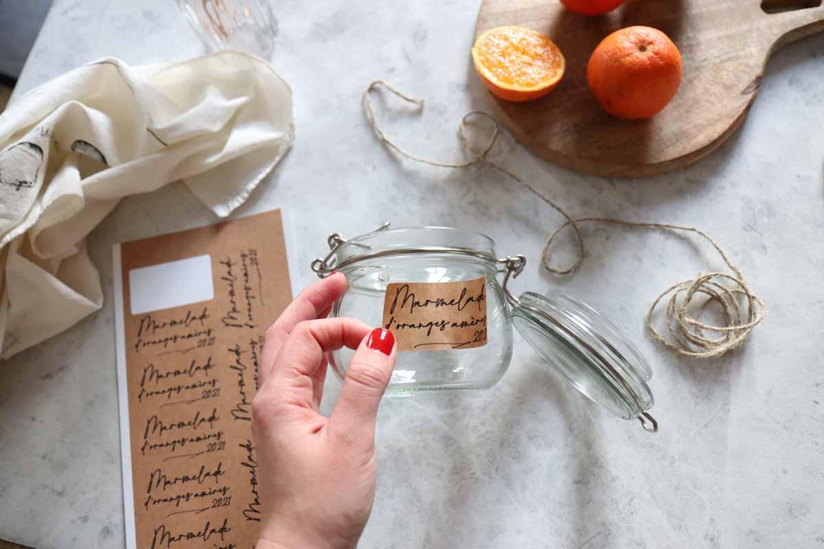 Laure Coulombel - jam jar labels