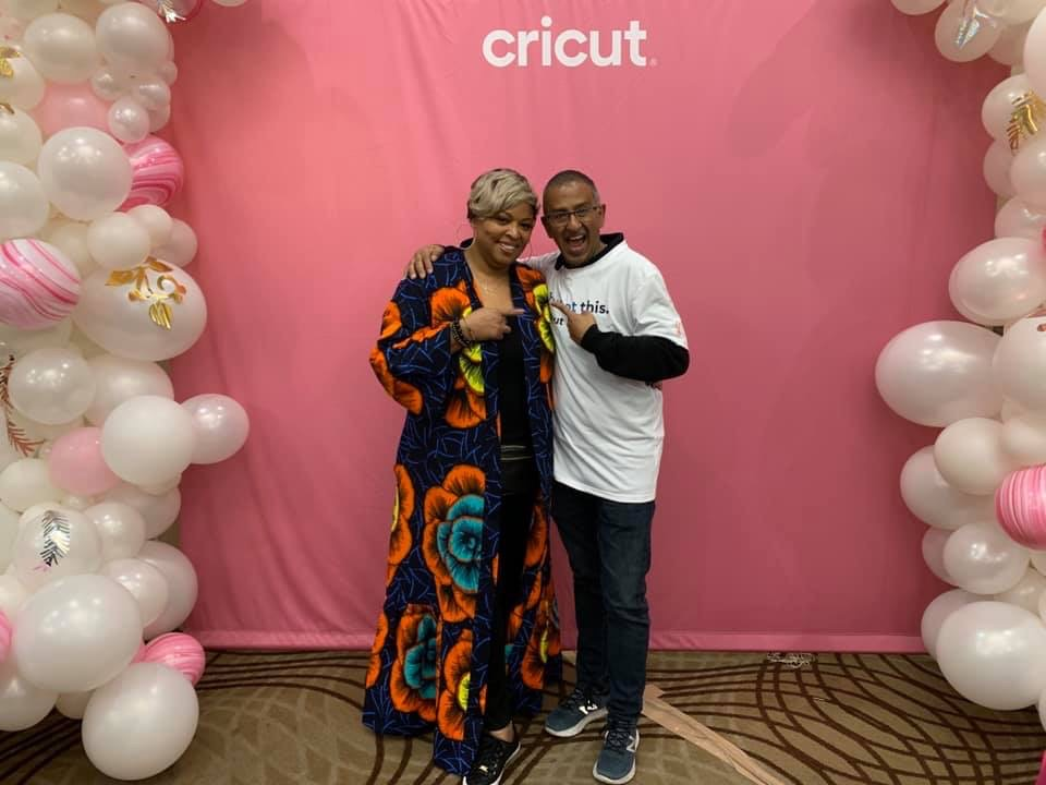 Karen Baxter with Cricut CEO Ashish Arora