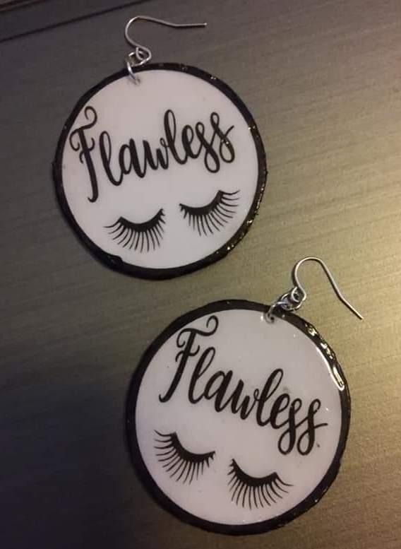 Brenda Cowans #cricutmade earrings