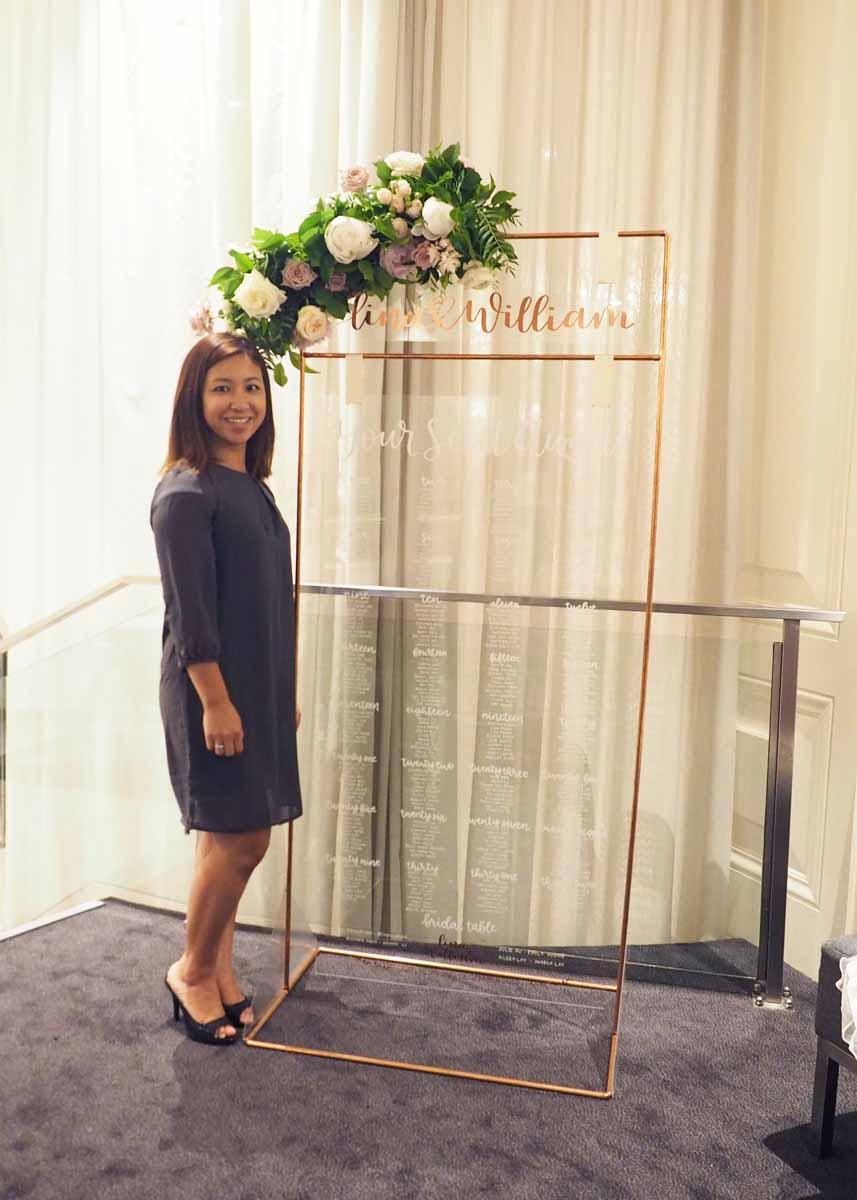 Liz Tu and her #cricutmade wedding craft