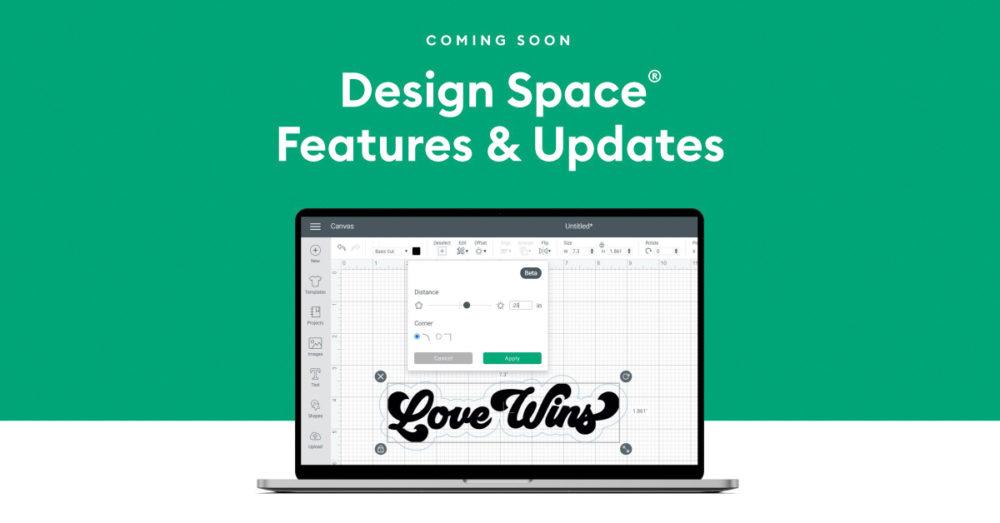 Design Space features & updates screenshot on laptop