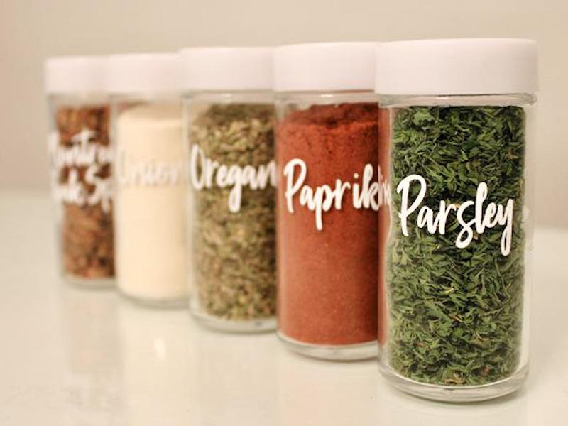 Spirit and Shine - Spice Jar Labels