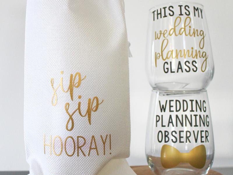 Spirit and Shine - Wedding Wine Glasses
