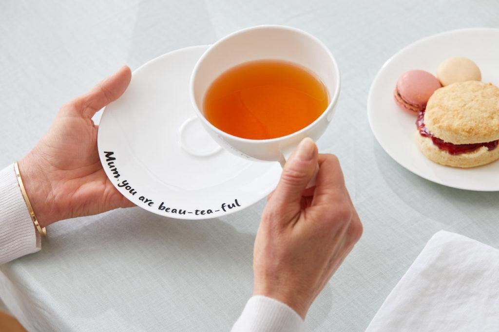 """Mum, you are 'beau-tea-ful'"" teacup and saucer"