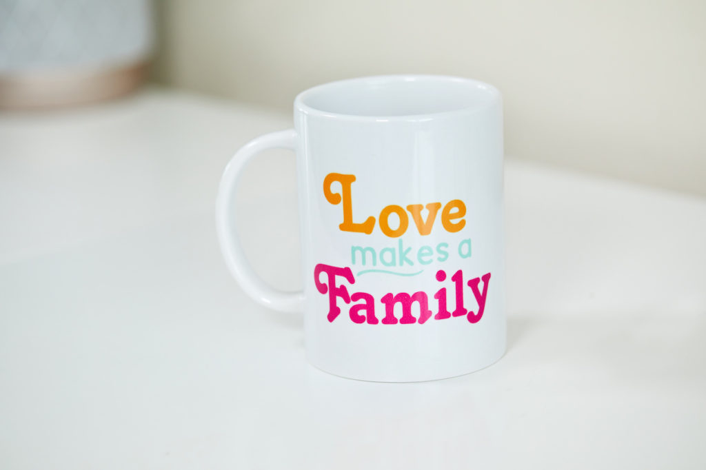 """Love makes a family"" mug"