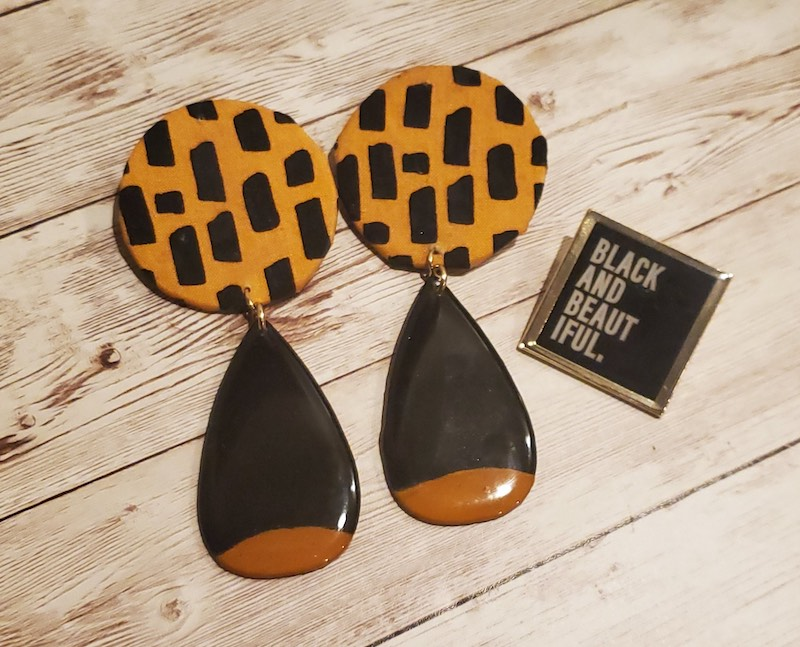 LavaLifeDesigns #cricutmade earrings and pin