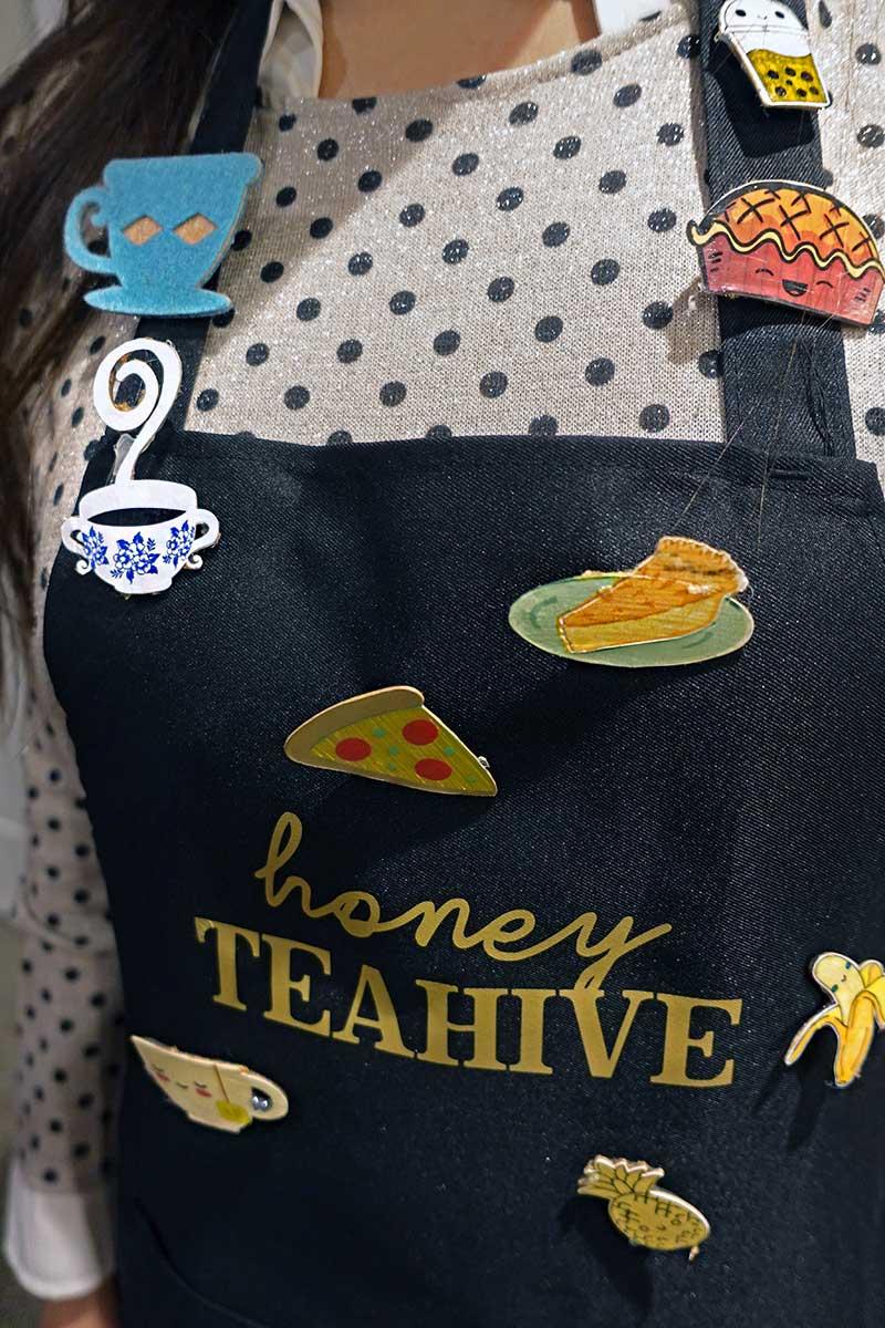 #cricutmade pins with Honey Teahive