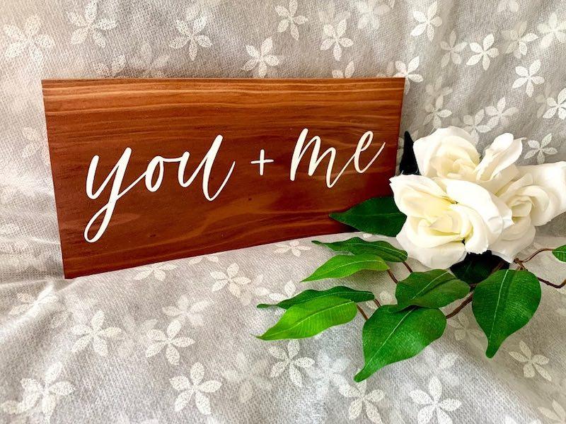Carissa Flores - Dos Flores Design, handmade wood sign