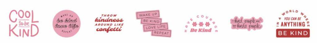 Cricut Access image set: Cool to be Kind