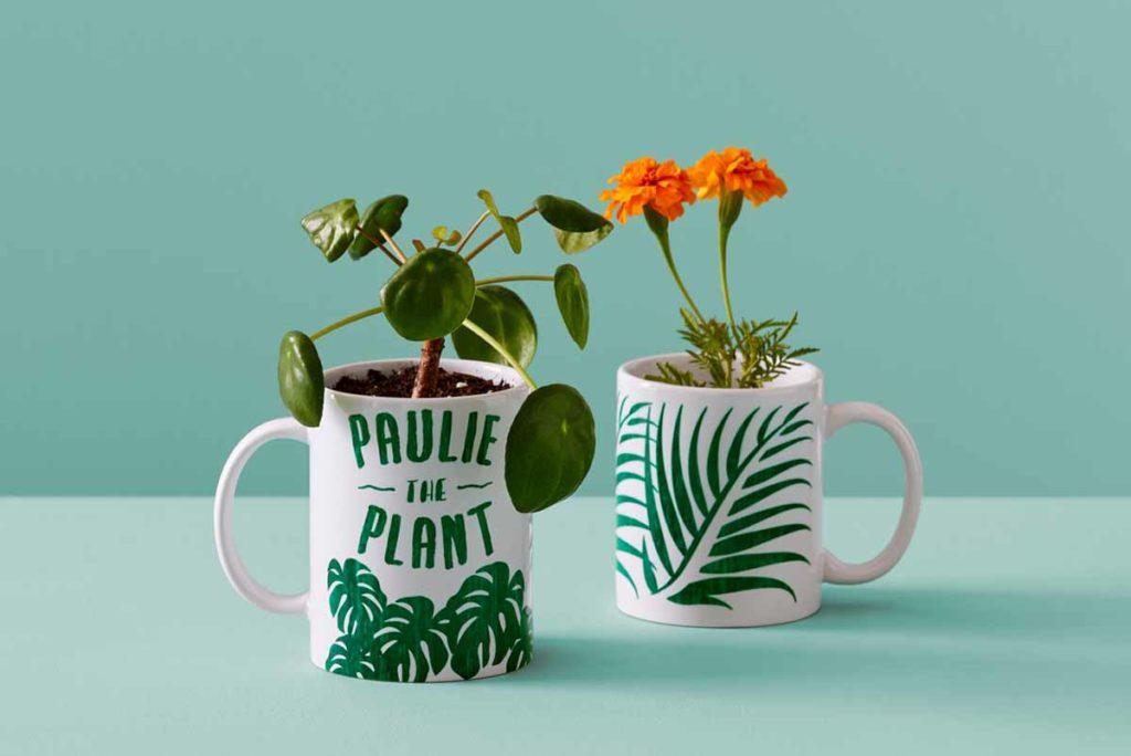 Paulie the Plant mug from Cricut