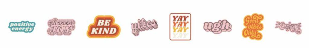 Cricut Access image set: Good Vibes Only