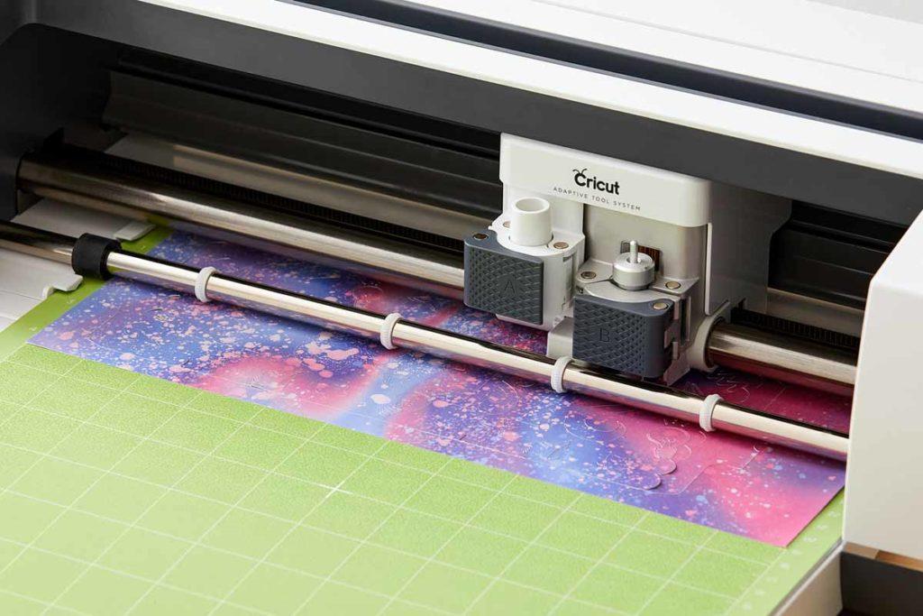 Cricut Maker using Infusible Ink on a StandardGrip green mat