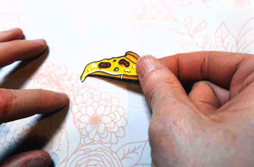 Print Then Cut pins going onto a backer