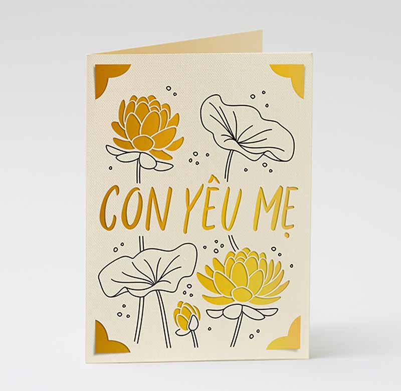 """Mother's Day """"I love you"""" cards - Vietnamese"""