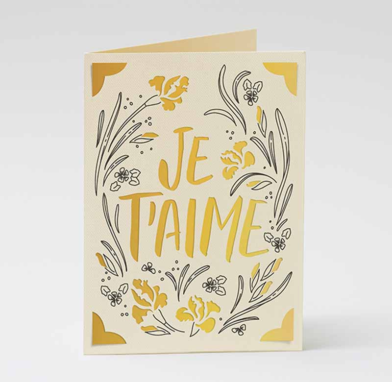 """Mother's Day """"I love you"""" cards - French"""