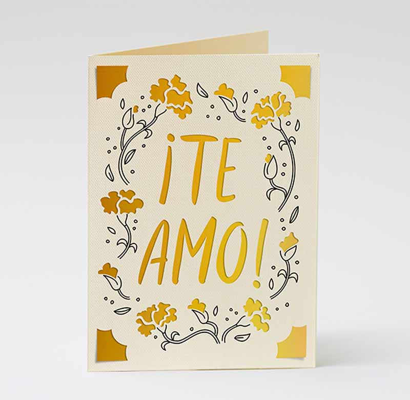 """Mother's Day """"I love you"""" cards - Spanish"""