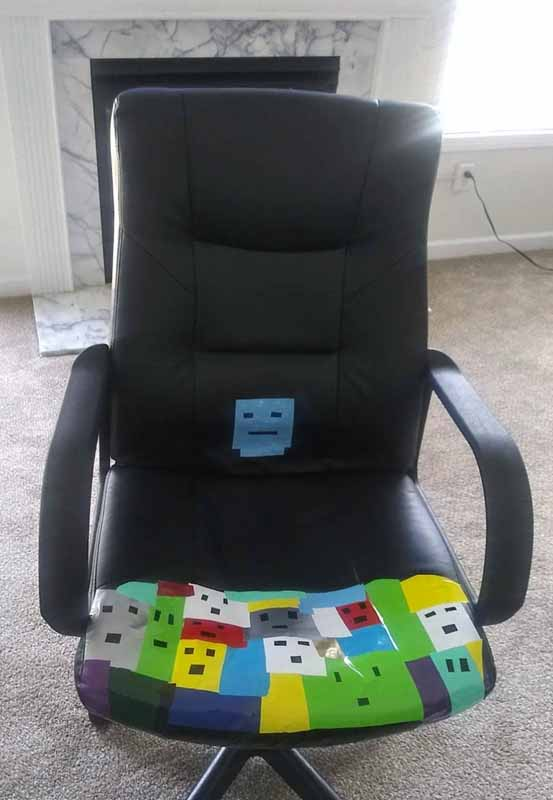 Diane Jordan - scraps office chair fix