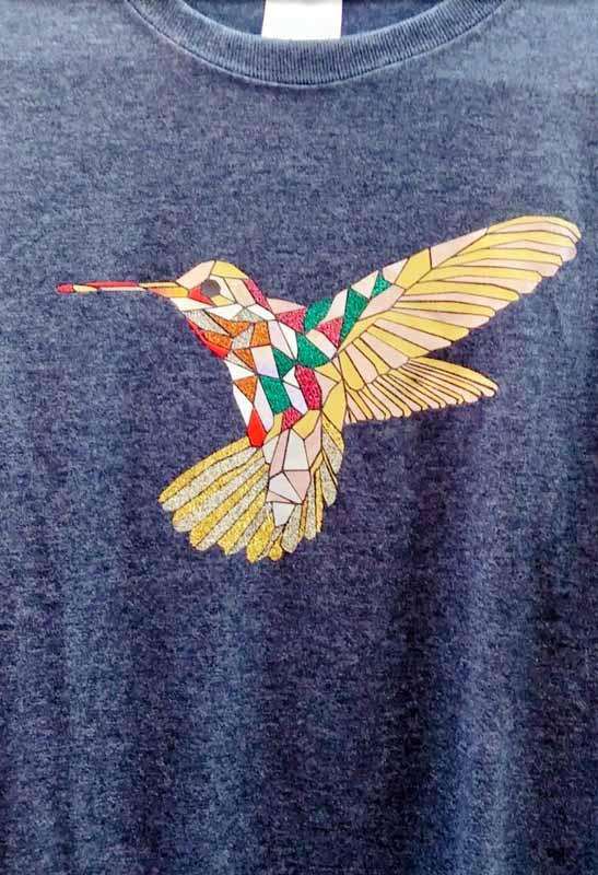 I Love Handmade Stuff - Angie and Tuan vinyl scraps shirt