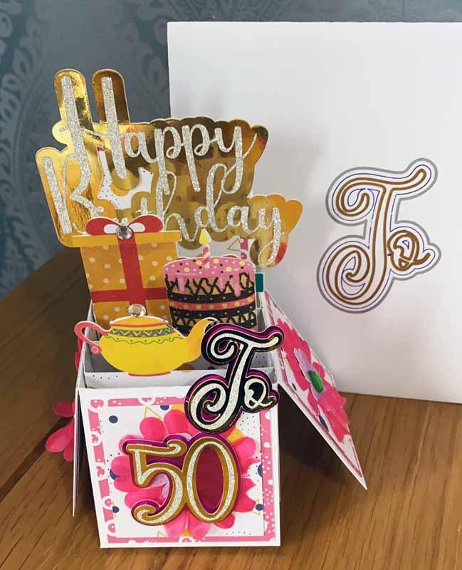 Melle John - Birthday Card using scraps