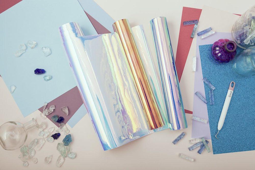 Cricut materials with glass rocks
