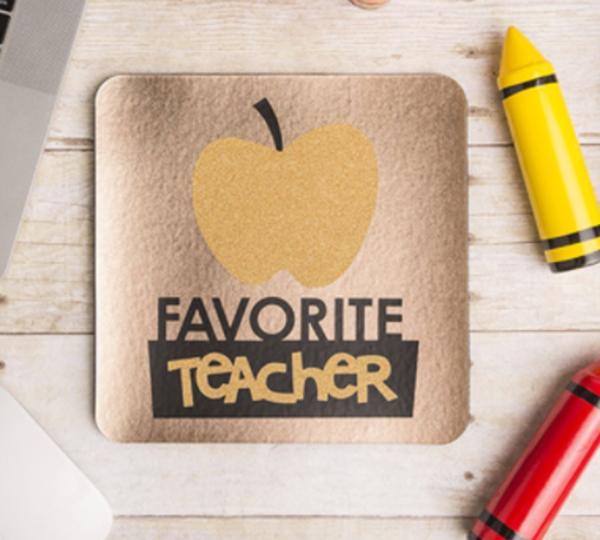 Favorite teacher card made with Cricut