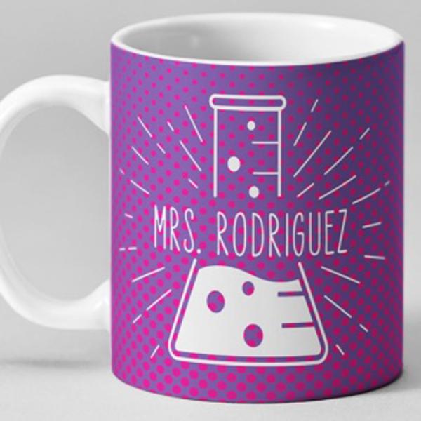 Personalized mug made with Cricut machine