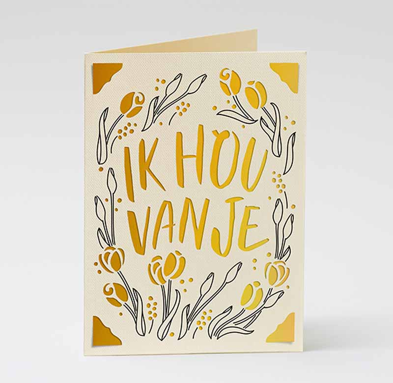"""Mother's Day """"I love you"""" cards - Dutch"""