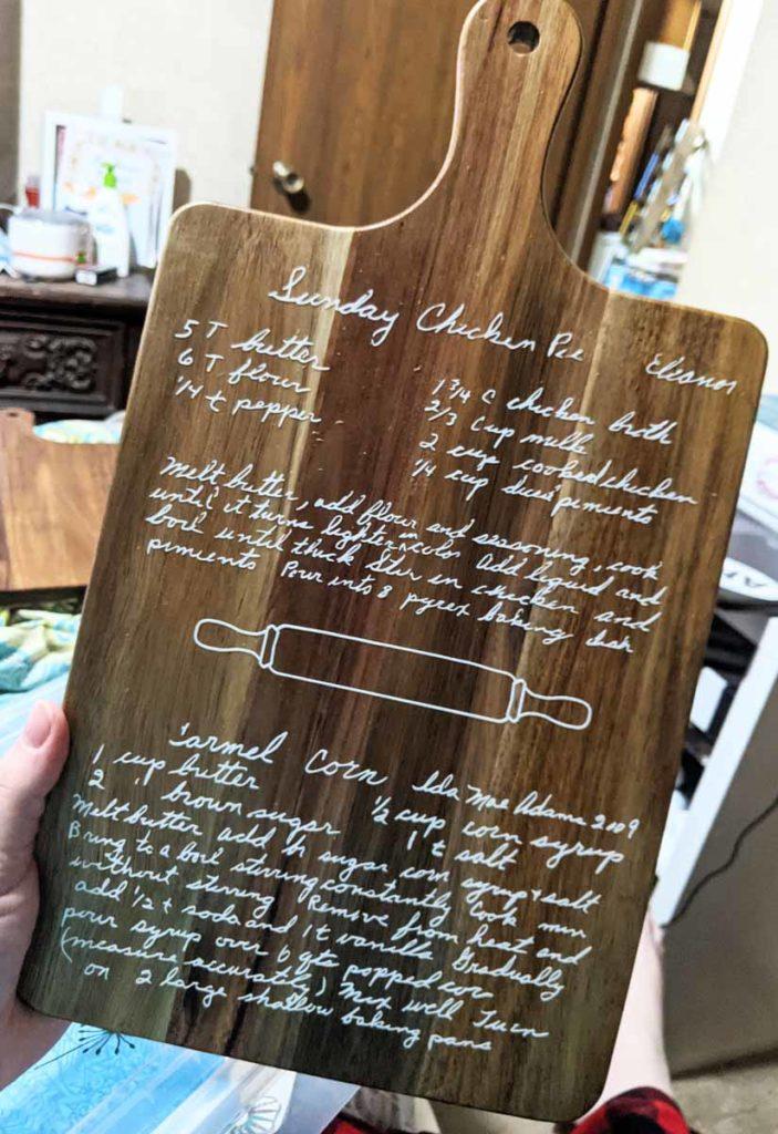 Jessica Welbourne - Mom's Chicken Pie Recipe Board