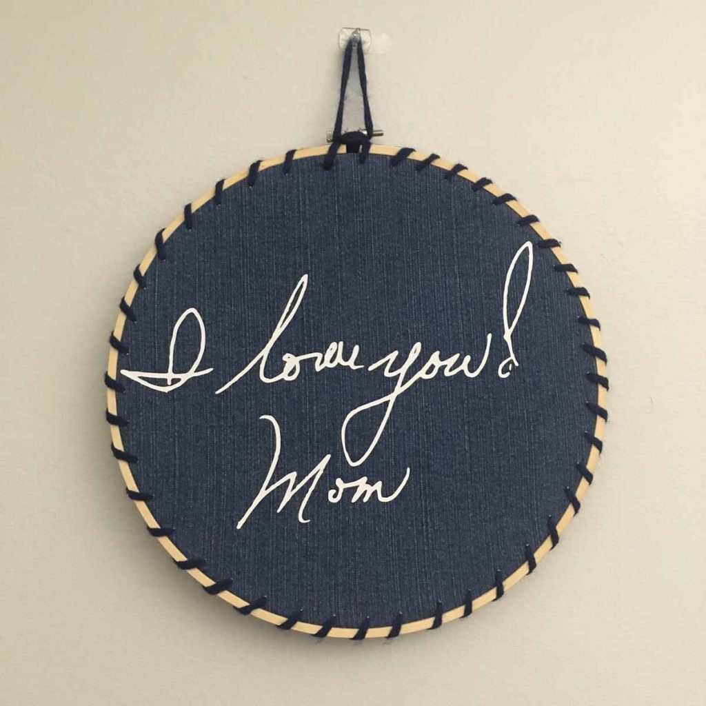 Nicol Corcoran - Embroidery Hoop from Mom's Jeans