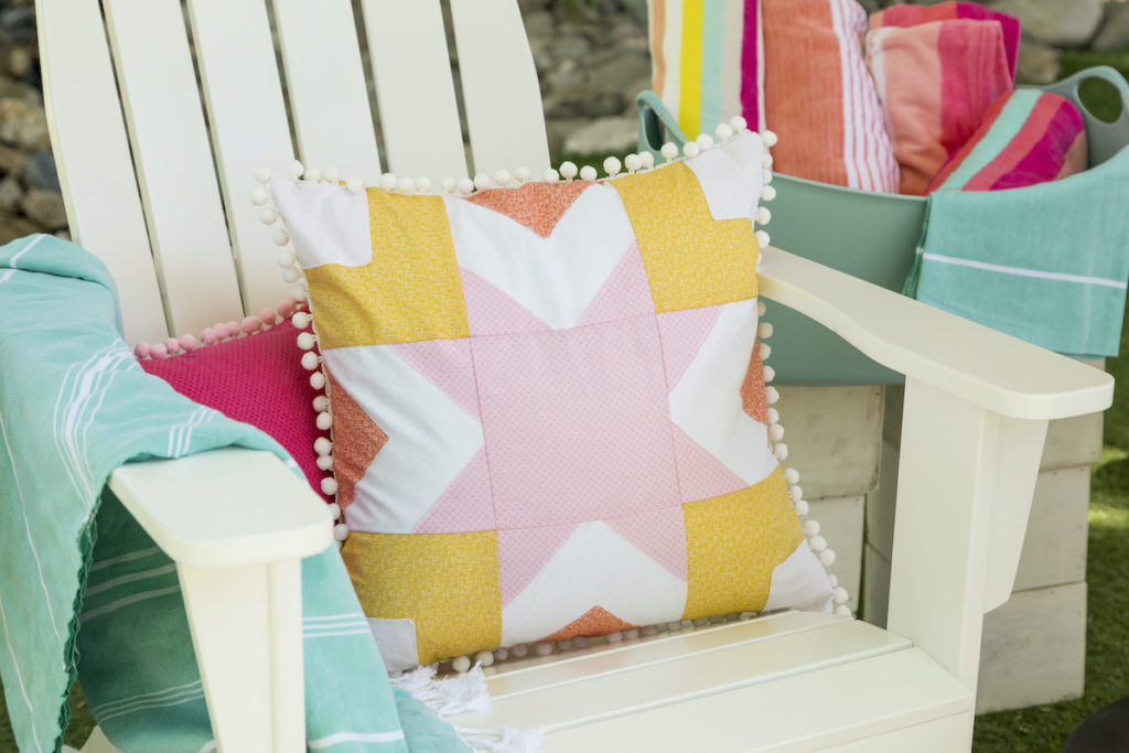 Pillow on patio chair