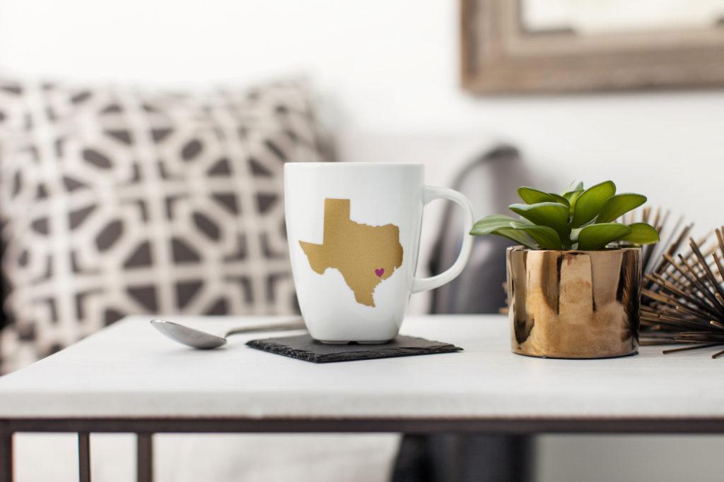 Mug with state of Texas