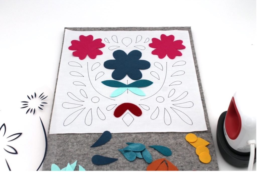 fabric template ready for Cricut EasyPress