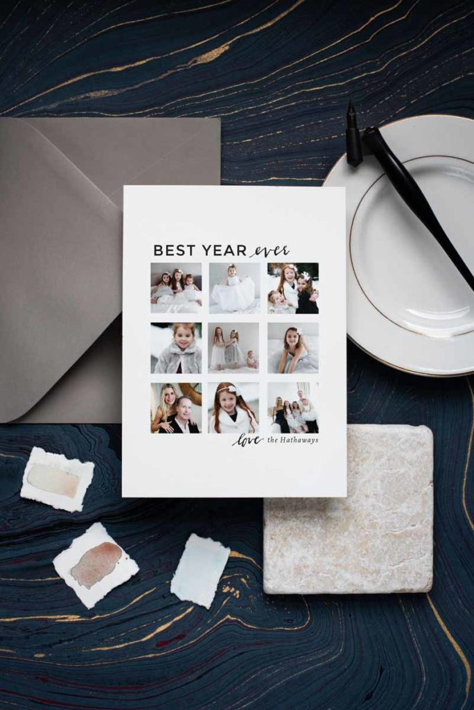 Erin Wilson holiday card for Minted