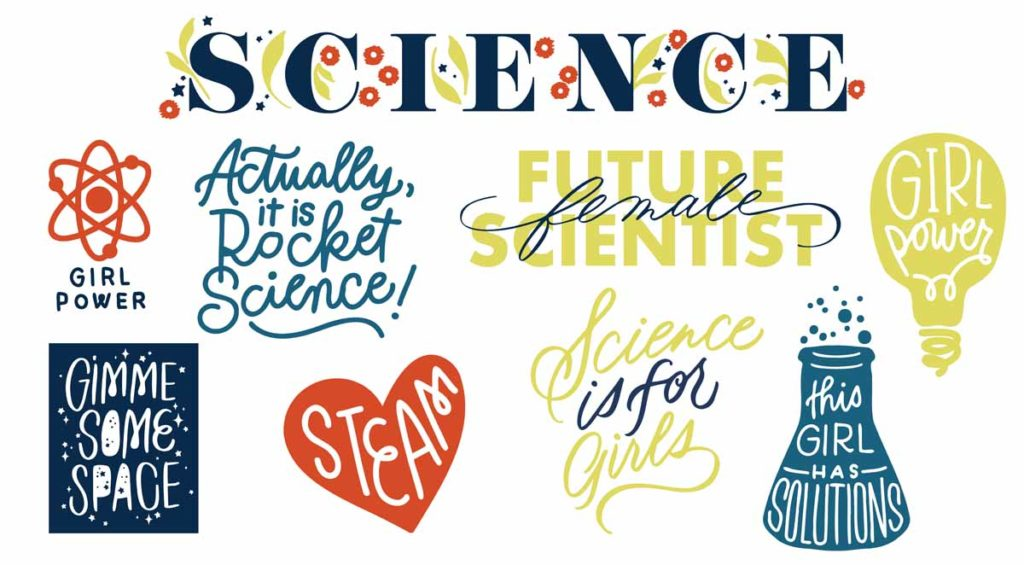 Erin Wilson - Girls Science Image Set