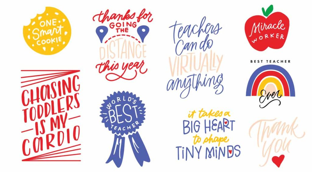 Teacher Appreciation Image Set by Erin Wilson