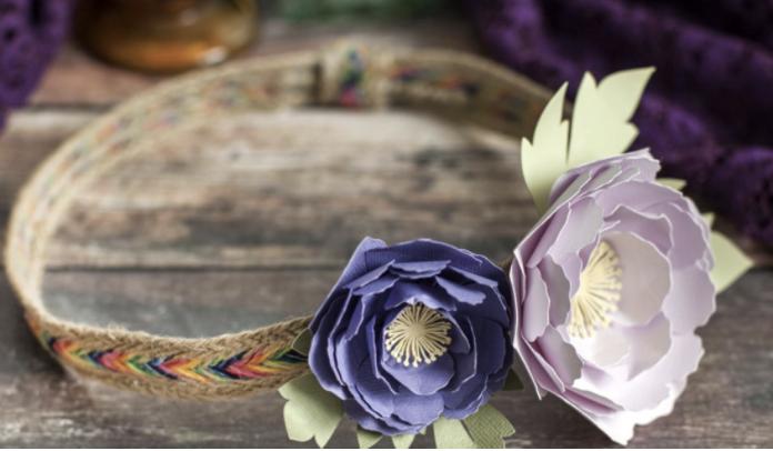 peony paper flower crown